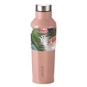 Neoflam 500ml 24 Hydro Stainless Steel bottle in Sunset Pink - Double walled and vacuum insulated