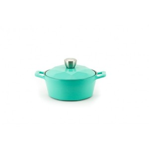 Neoflam Carat - 20cm Casserole Mint Induction with Die Casted Lid