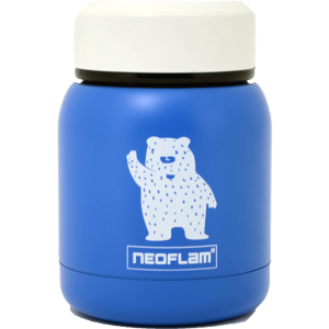 Neoflam Food Jar steel 220ml Double walled and vacuum insulated - Blue