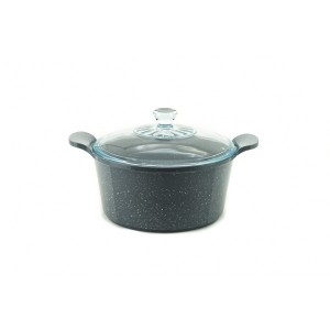Neoflam Marble - 24cm Casserole 4.50L Induction with Glass Lid