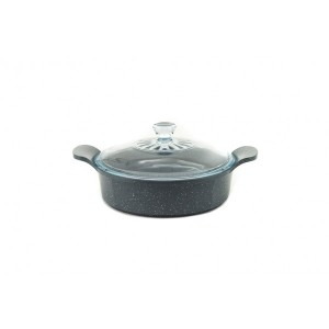 Neoflam Marble - 24cm Low casserole 2.70L Induction with Glass Lid