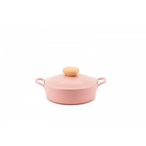 Neoflam Retro - 22cm Low Casserole 2.0L with Die-Casted lid Pink - Induction