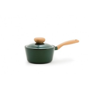 Neoflam Retro Jewel - 18cm Sauce pan 1.8L Green Topaz Induction with Die-Casted Lid