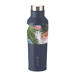 Neoflam 500ml 24 Hydro Stainless Steel bottle in Moon Navy - Double walled and vacuum insulated