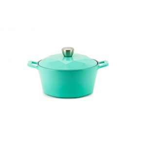 Neoflam Carat - 24cm Casserole Mint Induction with Die Casted Lid