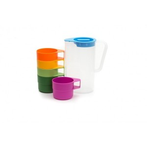 Neoflam Droplet Jug Picnic Set 1.1L (includes; 1 Jug with lid, 5 cups)