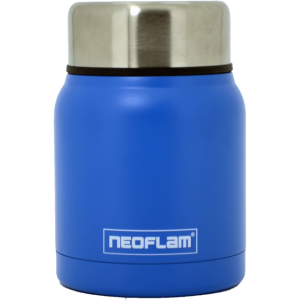 Neoflam Food Jar steel 550ml Double walled and vacuum insulated - Blue
