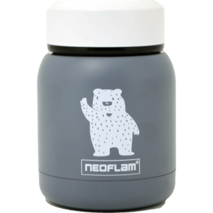 Neoflam Food Jar steel 220ml Double walled and vacuum insulated - Gray