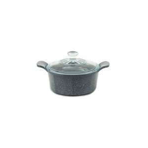 Neoflam Marble - 20cm Casserole 2.40L Induction with Glass Lid
