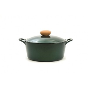Neoflam Retro Jewel - 26cm Casserole 5.5LGreen Topaz Induction with Die-Casted Lid