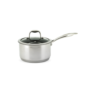 Neoflam Stainless Steel Classic 18cm Sauce Pan Induction with Glass Lid