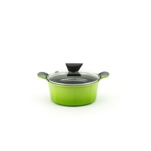 Neoflam Venn - 20cm Casserole 2.40L Green Induction with Glass Lid
